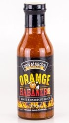 DON MARCO's Orange Habanero Glaze & Barbecue Sauce, 375 ml