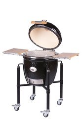 MONOLITH GRILL CLASSIC PRO-Series 1.0 - black incl. steel cart and side shelves