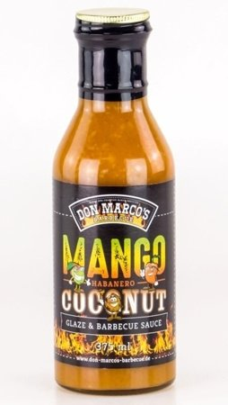 DON MARCO's Mango Habanero Coconut Glaze & Barbecue Sauce, 375 ml